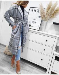 Woman coat - kod 1716 - gray