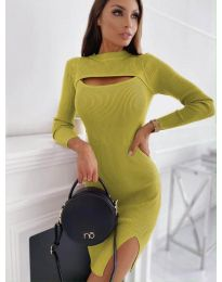 Dresses - kod 4528 - mustard
