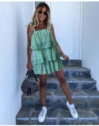 Dresses - kod 6140 - green