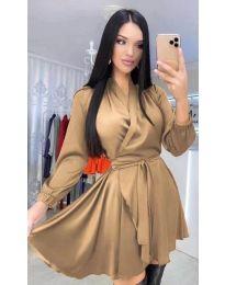 Dresses - kod 5931 - brown