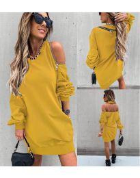 Dresses - kod 296 - mustard