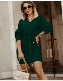 Dresses - kod 9876 - dark green