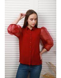 Shirts - kod 0633 - 1 - bordeaux
