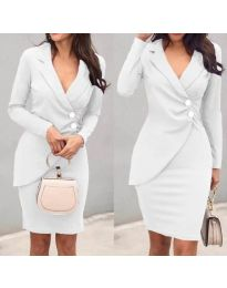 Dresses - kod 540 - white