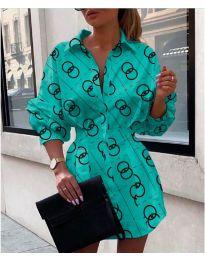 Dresses - kod 744 - turquoise
