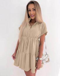 Dresses - kod 8889 - beige