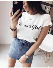 T-shirts - kod 3580 - 1 - white