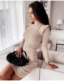 Dresses - kod 8484 - beige