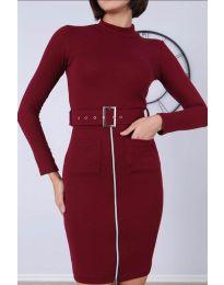 Dresses - kod 2053 - 4 - bordeaux