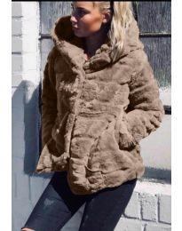 Woman coat - kod 9202 - cappuccino