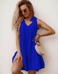 Dresses - kod 7206 - sky blue