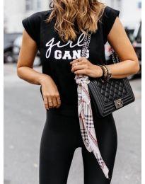 T-shirts - kod 918 - 5 - black