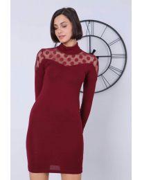 Dresses - kod 6099 - 2 - bordeaux