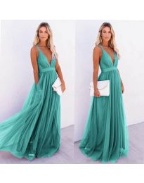 Dresses - kod 5587 - green