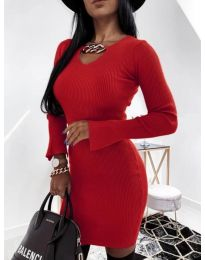 Dresses - kod 5666 - red