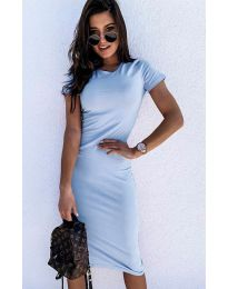 Dresses - kod 682 - light blue
