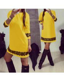 Dresses - kod 345 - yellow
