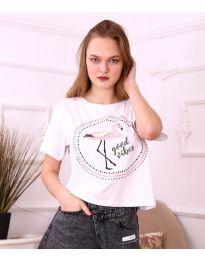 T-shirts - kod 3546 - white