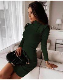 Dresses - kod 8484 - dark green