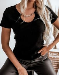 T-shirts - kod 4553 - black