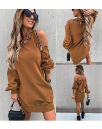 Dresses - kod 296 - brown