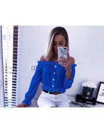 Shirts - kod 7126 - sky blue