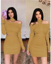 Dresses - kod 3982 - brown