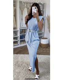 Dresses - kod 7049 - light blue