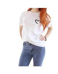 T-shirts - kod 3599 - white