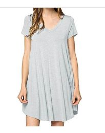 Dresses - kod 5938 - gray