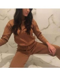 Tracksuits - kod 6353 - brown