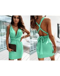 Dresses - kod 4017 - green