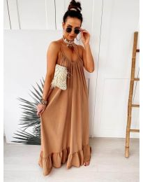 Dresses - kod 2218 - brown