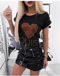 T-shirts - kod 984 - black