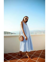 Dresses - kod 8810 - light blue