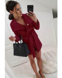 Woman coat - kod 214 - bordeaux