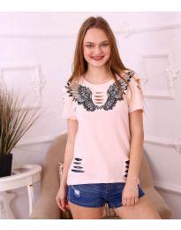 T-shirts - kod 3568 - pink