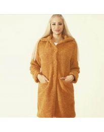 Woman coat - kod 1615 - 6 - brown