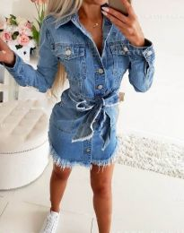 Dresses - kod 3666 - blue