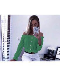 Shirts - kod 7126 - green