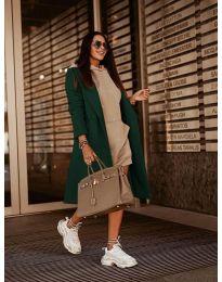 Woman coat - kod 7555 - green