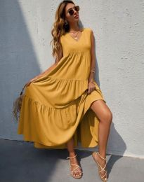 Dresses - kod 8149 - mustard