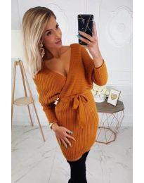 Dresses - kod 145 - mustard