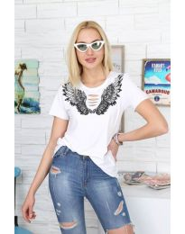 T-shirts - kod 3568 - white