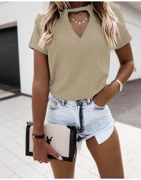 T-shirts - kod 3597 - beige