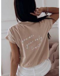 T-shirts - kod 3616 - cappuccino
