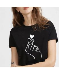 T-shirts - kod 816 - black