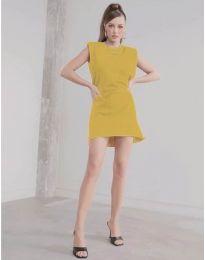 Dresses - kod 625 - mustard