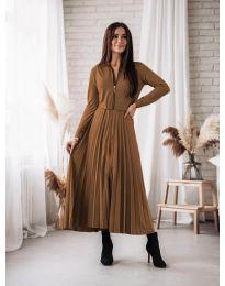 Dresses - kod 1544 - brown