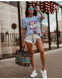 T-shirts - kod 684 - light blue